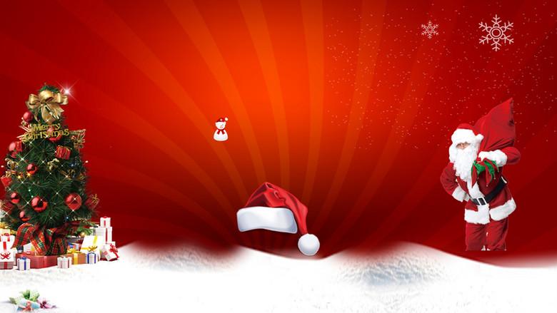 圣诞狂欢汽车宣传海报背景素材