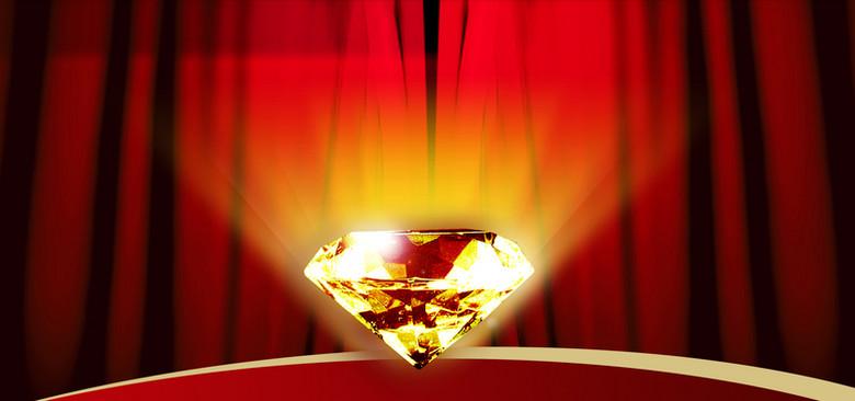 红色钻石背景