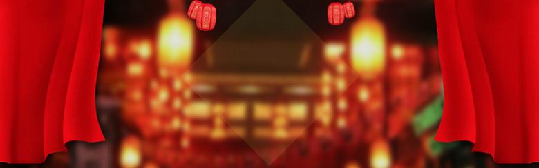 年货节促销海报背景banner
