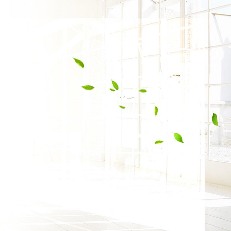 清新绿叶家居用品PSD分层主图背景素材