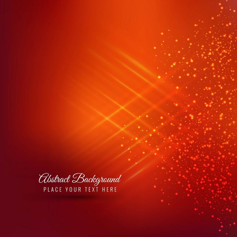 红色抽象的圣诞树设计背景素材
