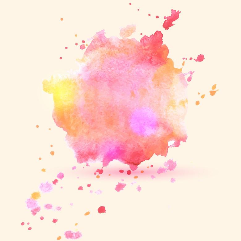 粉色水彩渐变滴溅质感背景素材