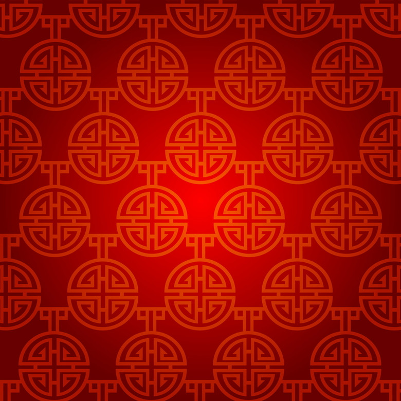 红色中国风纹理