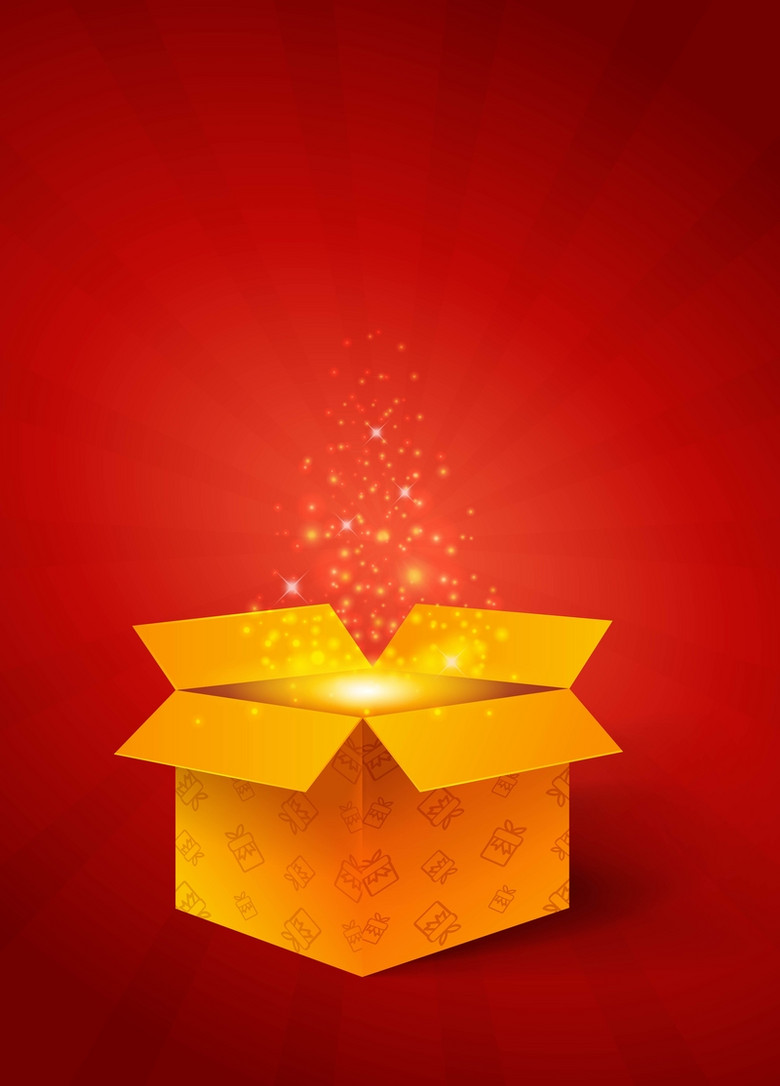 质感礼物盒打开背景