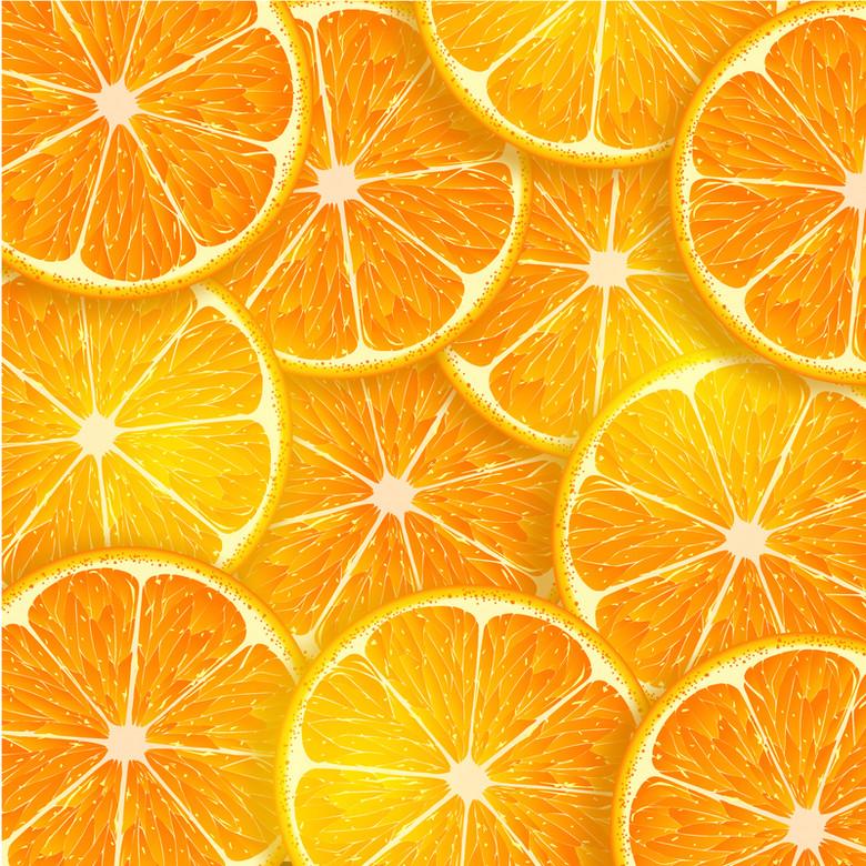 橙色橘子片背景