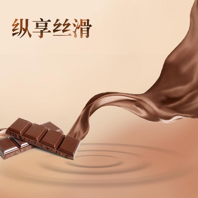 丝滑巧克力PSD分层主图背景素材