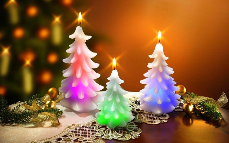 圣诞树蜡烛