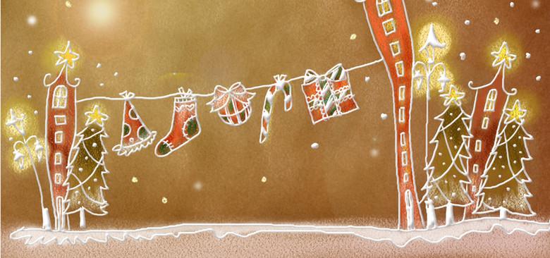 手绘圣诞背景