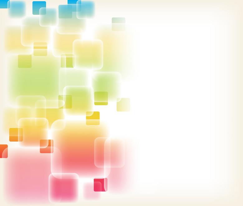 浪漫简洁彩色透明光线方块背景素材