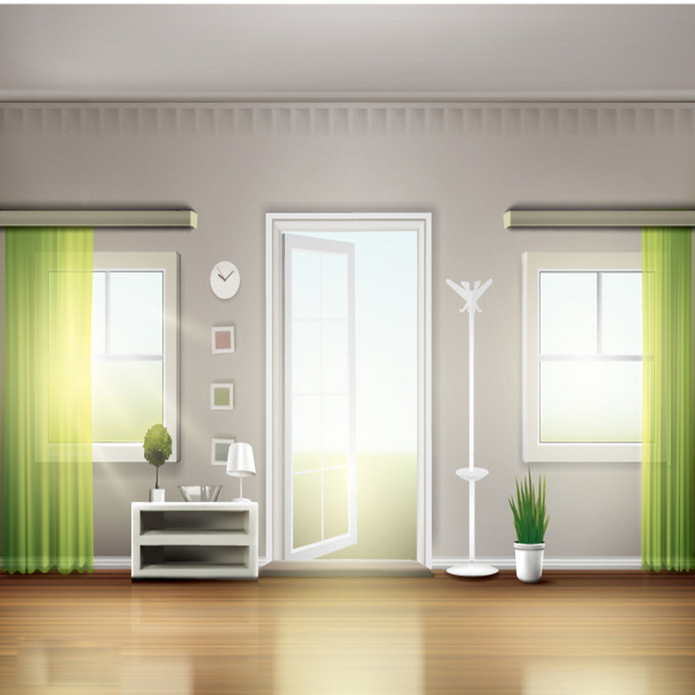 明亮客厅设计素材