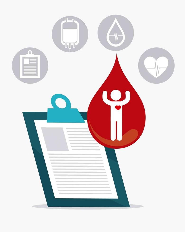 公益无偿献血救人红十字医疗海报背景