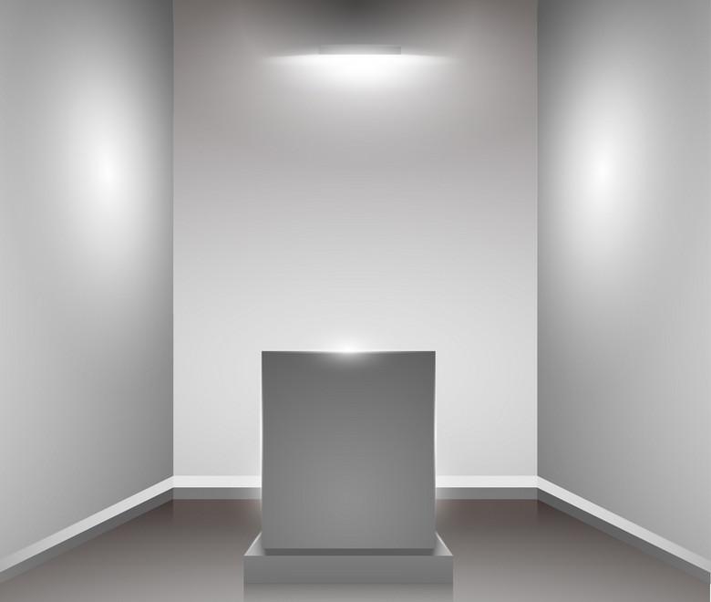 室内展览灯光展台背景素材