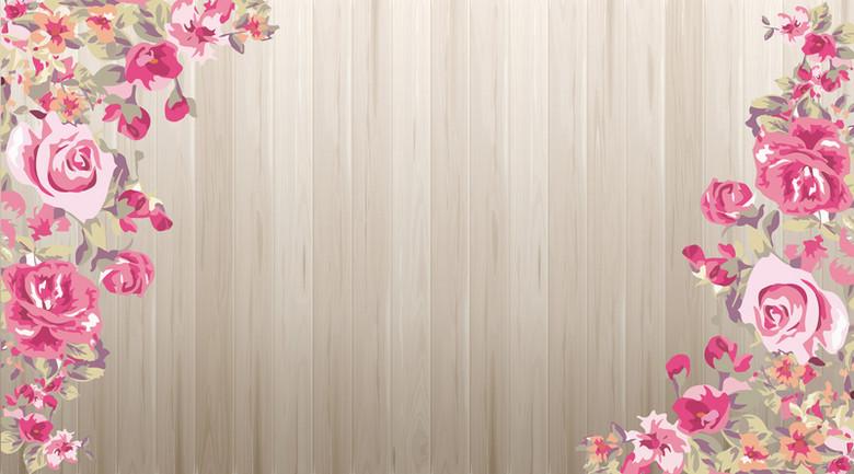 婚礼迎宾区展板背景素材