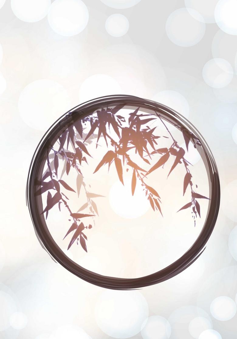 水墨竹林背景模版