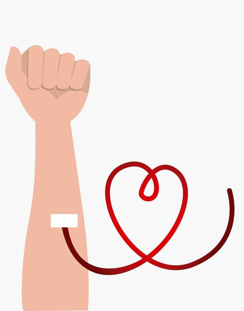 公益无偿献血心跳输血红十字医疗海报背景
