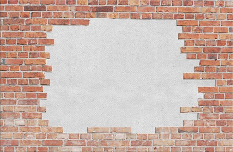 红砖墙壁背景图