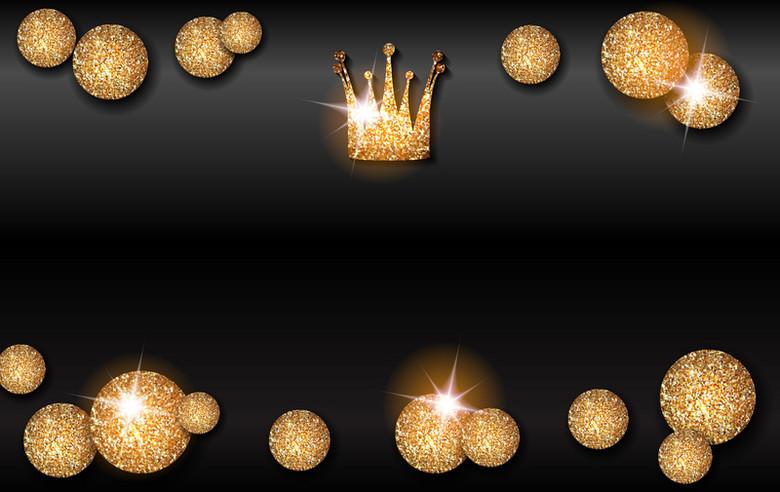金色圆球皇冠背景素材