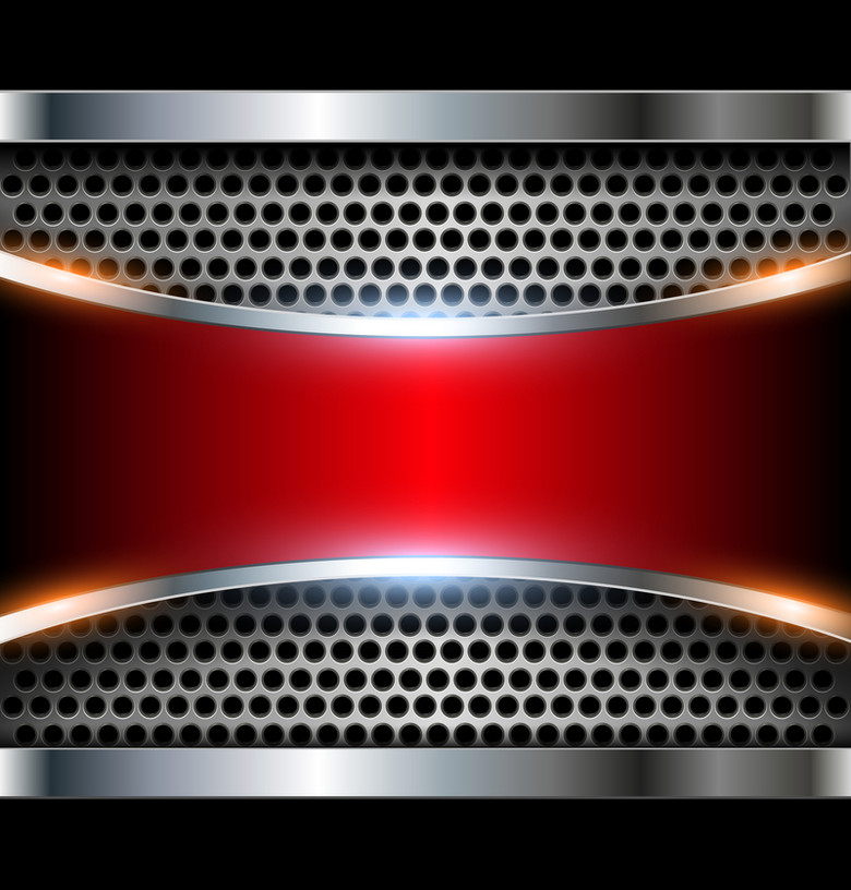灰色红色金属质感背景