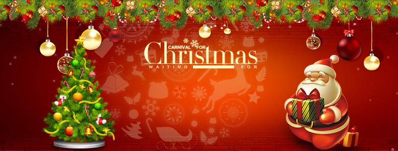圣诞狂欢促销背景