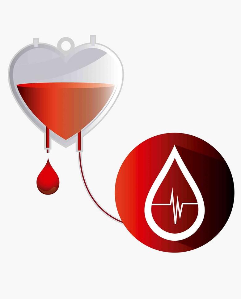 公益无偿献血心跳红十字医疗海报背景