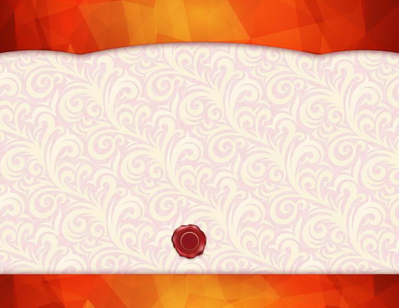 欧式证书花纹底纹素材背景