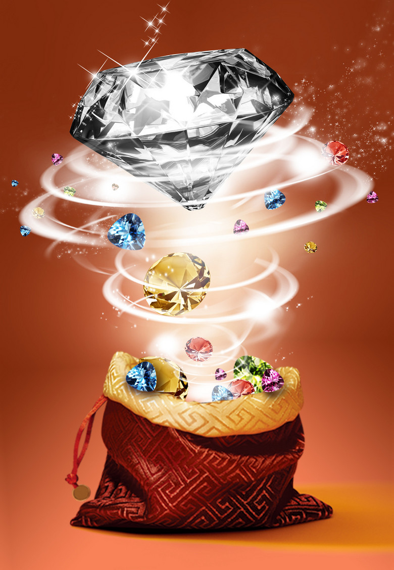 时尚大气钻石奢侈品背景素材
