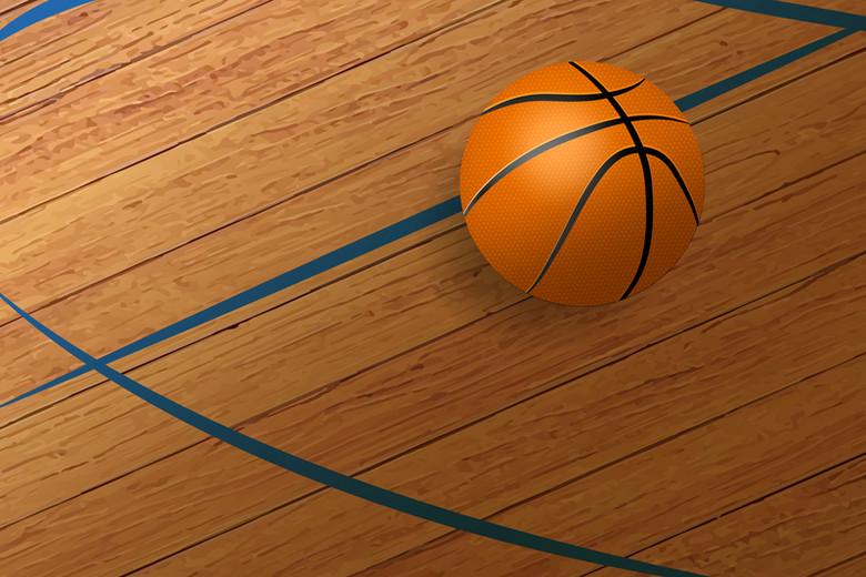卡通质感篮球球场激情球赛背景素材