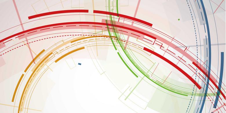彩色曲线背景装饰