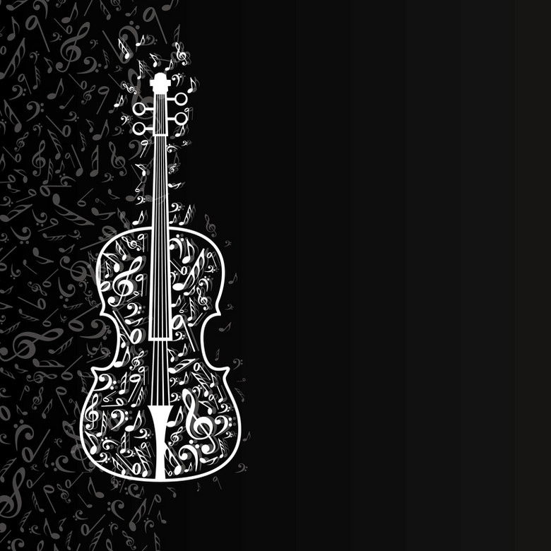 音符吉他渐变深色海报背景