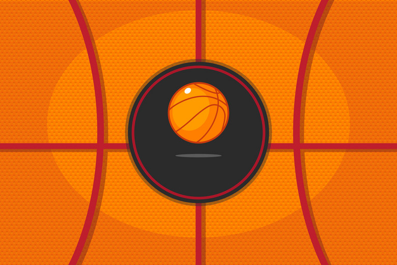 扁平手绘卡通篮球纹理激情球赛抽象背景素材