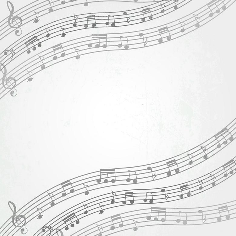卡通抽象五线谱音符背景素材