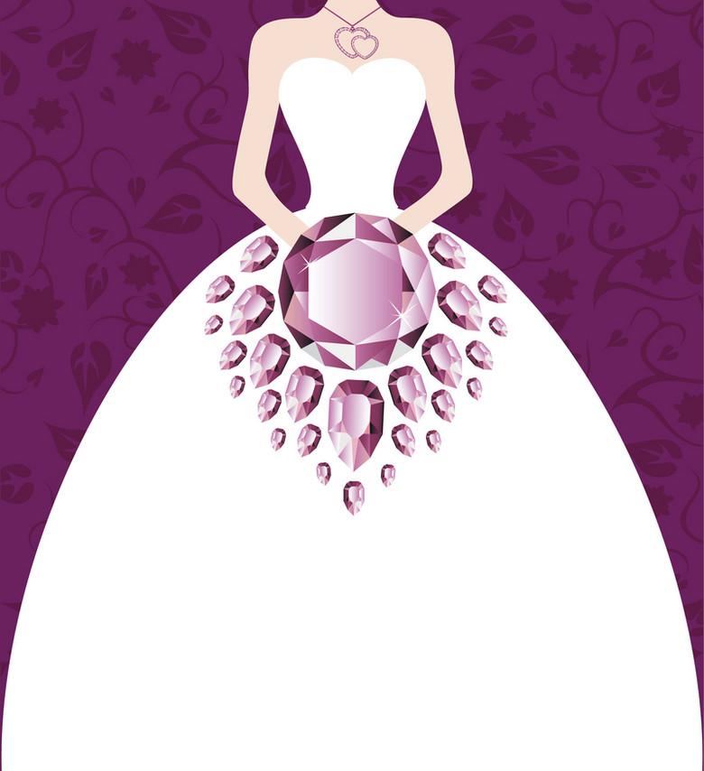 婚礼珠宝海报设计元素背景素材