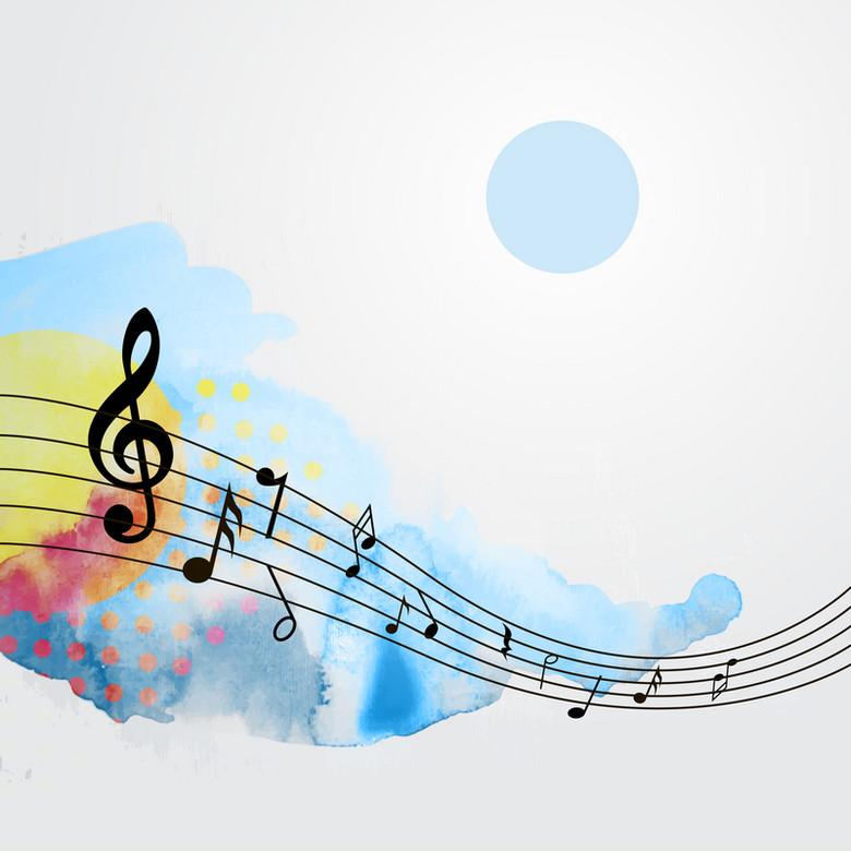 抽象五线谱音乐背景素材