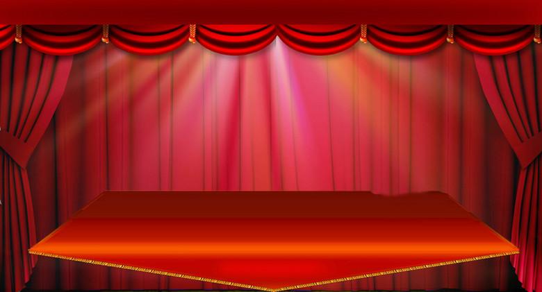 红色舞台背景素材