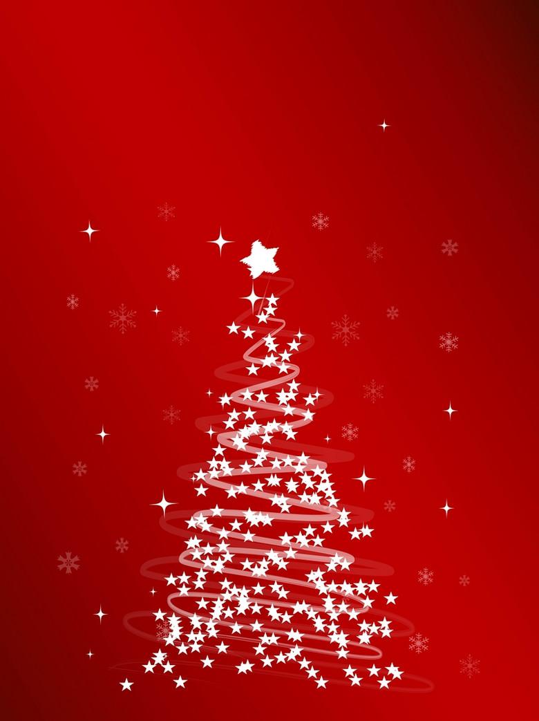 创意圣诞树背景素材