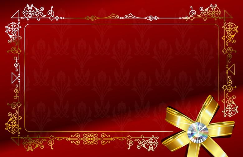 红色花纹礼结