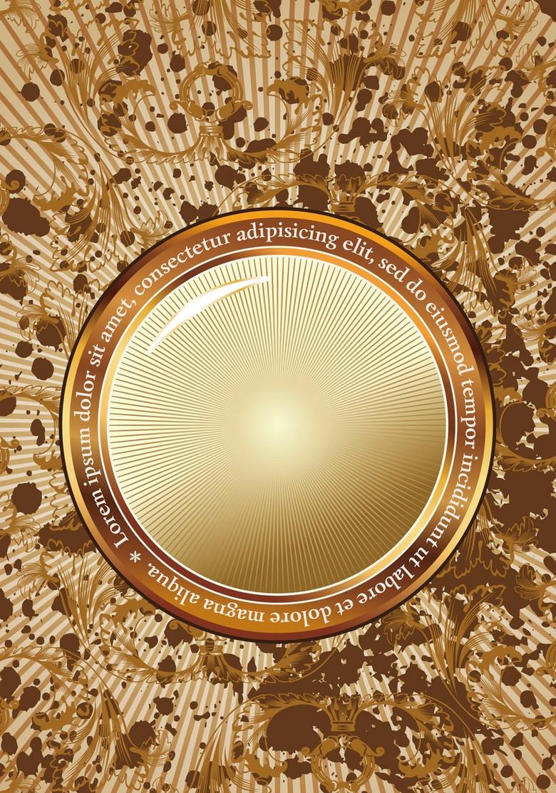 金色边框背景模版