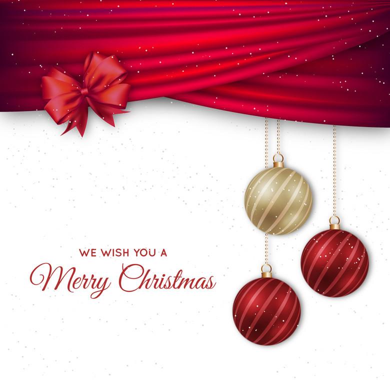 圣诞节元素背景海报素材